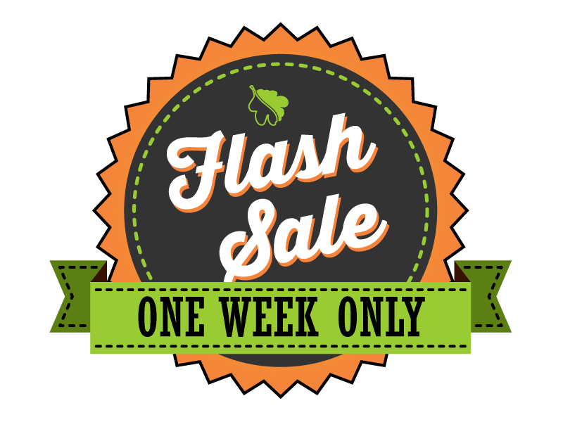 Flash Sale - One Week Only
